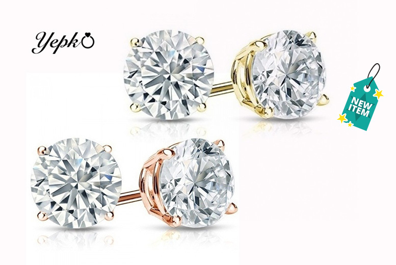 Crystal Stud Earrings - 2 Colours!