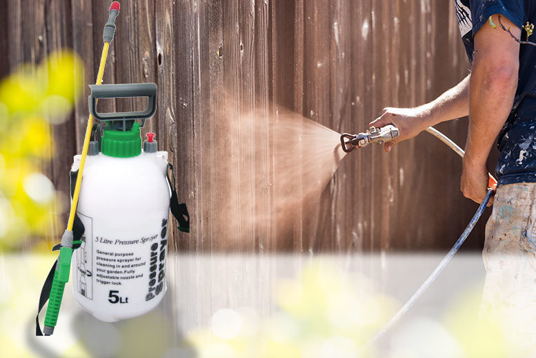 5L High-Pressure Fence & Weed Sprayer for £6.99