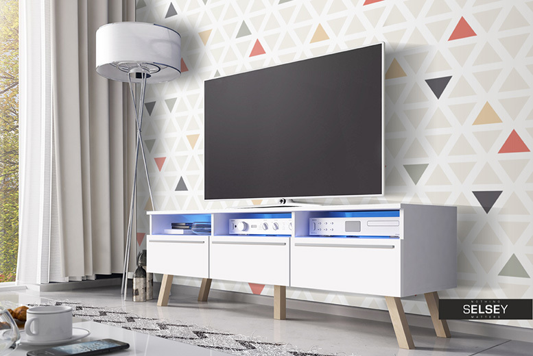 Scandinavian Lavello Wood TV Cabinet - 2 Colour Options!