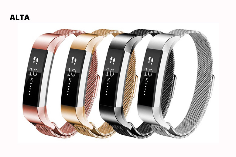 Magnetic Milanese Stainless Steel Fitbit Replacement Strap from £7.99