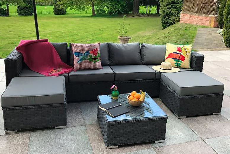 6-Seater Rattan Sofa Set - 3 Colours & Fully Assembled!