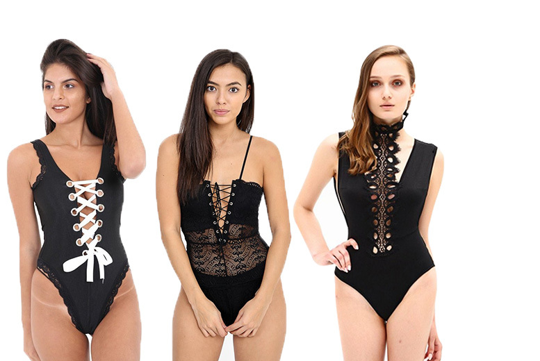 Women's Body Suit – 3 Styles & UK Sizes 6-14! for £5.99