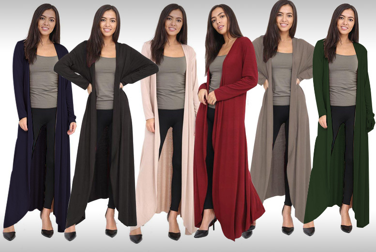 Maxi Cardigan – 7 Colours & Sizes 8-20! for £9.99