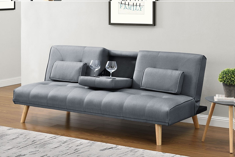Brooklyn Scandi-Style Fabric Sofa Bed - 3 Colours!