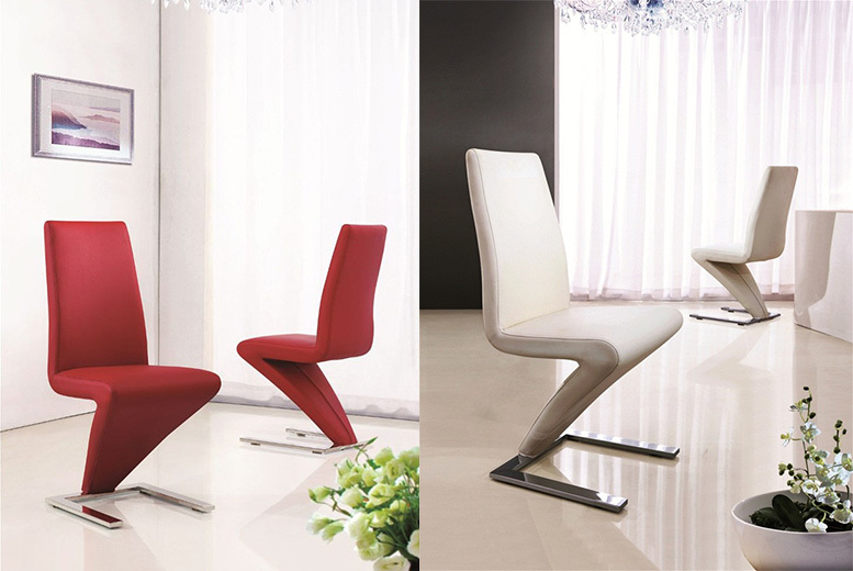 Modern Designer 'Z' Dining Chairs – Get 1, 2 or 4! from £49.00