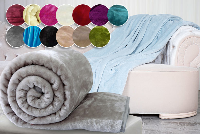 Faux Mink Fur Throw – 2 Sizes & 13 Colours! from £9.99