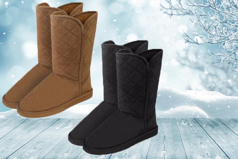 Women's Faux Fur Boots – 2 Colours & 4 Sizes! for £3.99