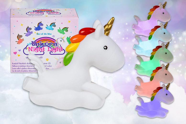 Colour-Changing Unicorn LED Night Light for £7.99