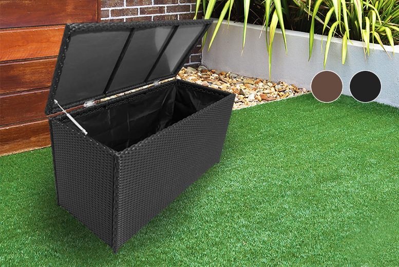 Rattan Garden Storage Chest - 2 Colours!