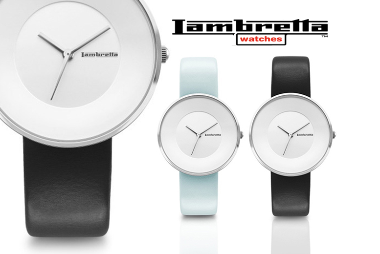 Lambretta Cielo 34 Leather Watch - Black or Blue!