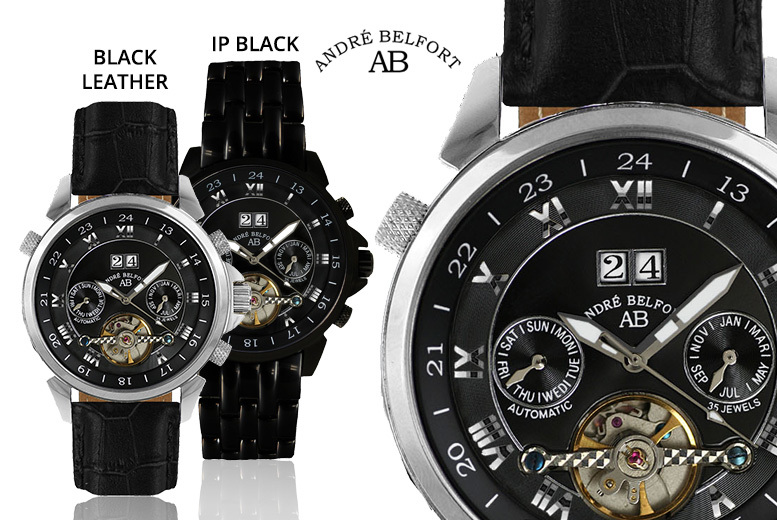 Andre Belfort Black Edition 'Etoile Polaire' Watch - 4 Designs!