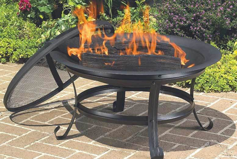 Wood Burning Fire Pit & Brasserie Grill for £19.99