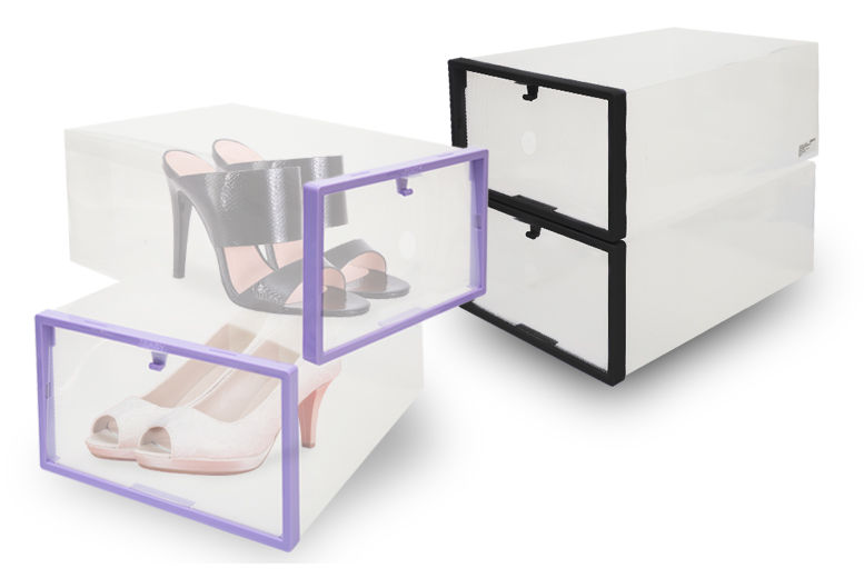 2 Stacking Shoe Boxes - 2 Colours!