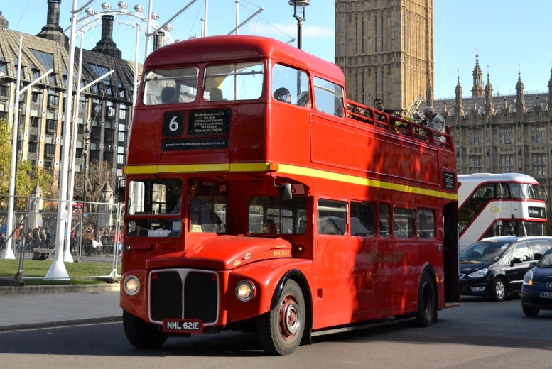 Vintage Open Top London Bus Tour and Thames River Cruise