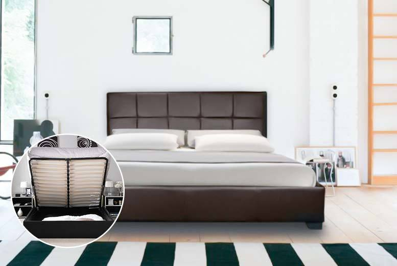 Faux Leather Ottoman Storage Bed - 2 Colours!