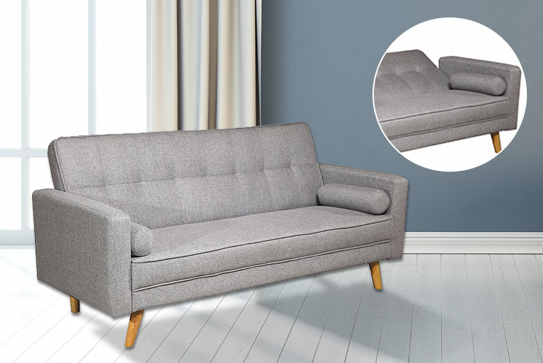 3-Seater Boston Fabric Sofa Bed – 2 Colours! for £179.00
