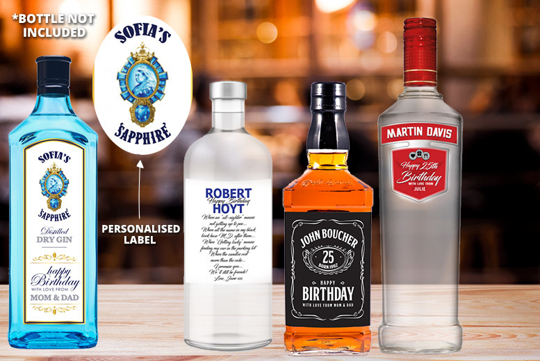4 Personalised Alcohol Bottle Labels