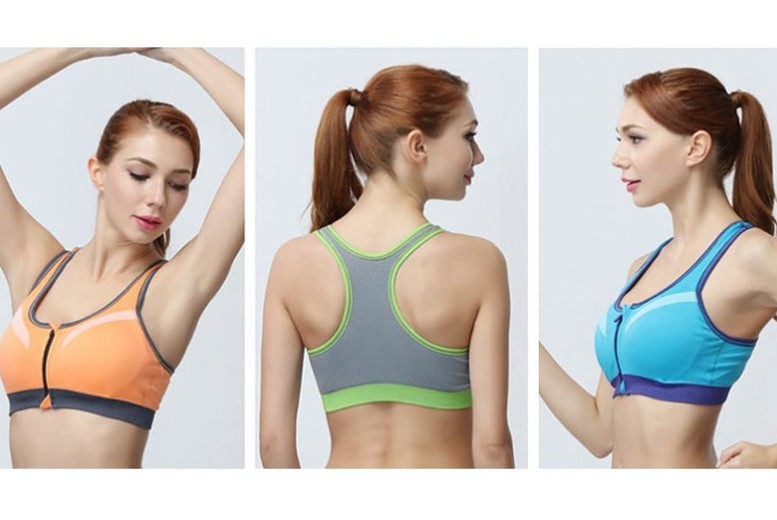 Seamless Layered Padded Sports Bra – 6 Colours & UK Sizes 8-14! for £9.99