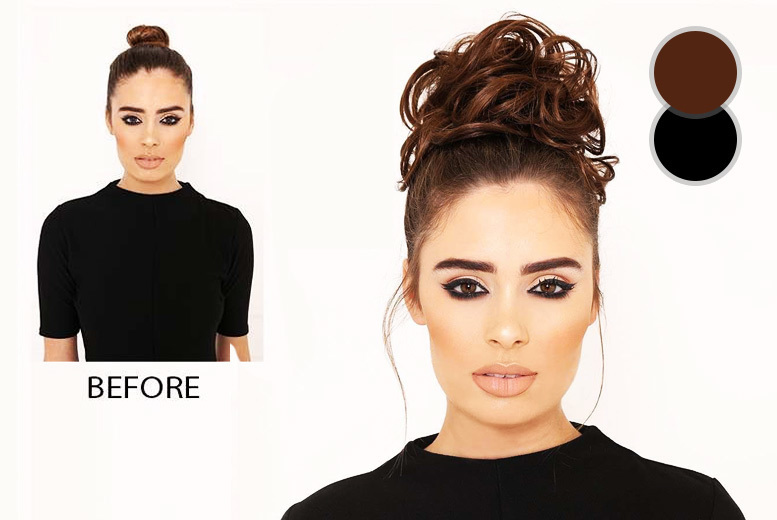 Messy Hair Scrunchie – Black or Brown! for £1.00