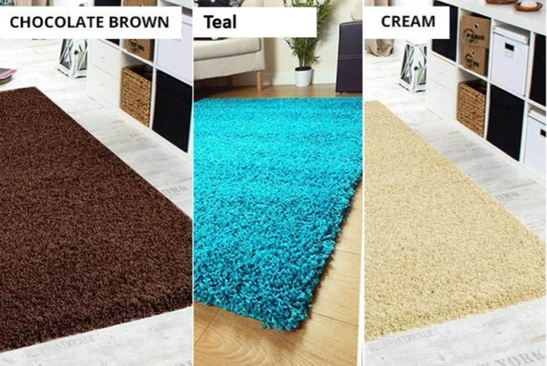 Shaggy Rugs - 4 Sizes & 10 Colours!