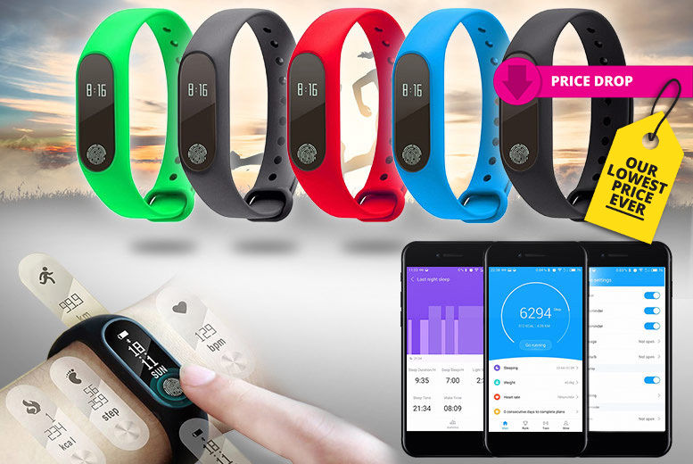 Smart-Touch Fitness Bracelet & Heart Rate Monitor – 5 Colours! for £16.00