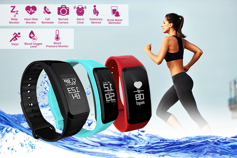 17-in-1 Fitness Tracker with Blood Pressure & Blood Oxygen Monitor – 3 Colours! for £19.00