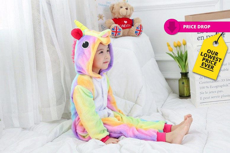 Kids' Rainbow Unicorn Onesie – 5 Sizes! for £9.99