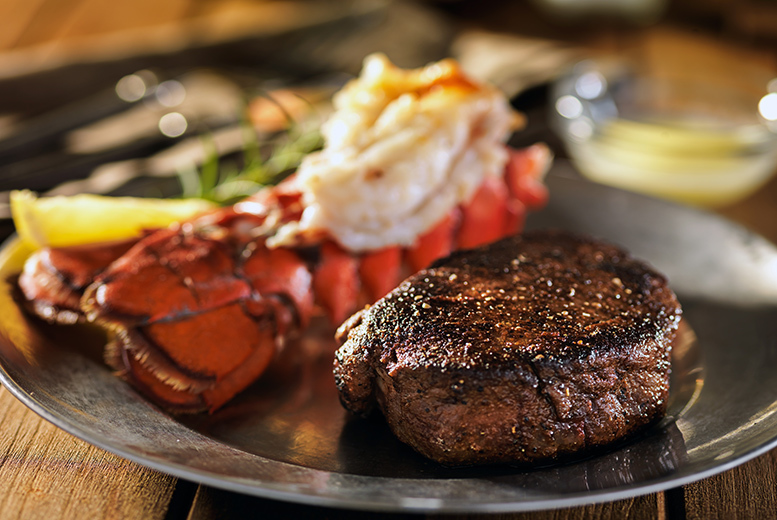 £45 for a steak and lobster meal including a bottle of Prosecco to share at one of five ABode Hotels