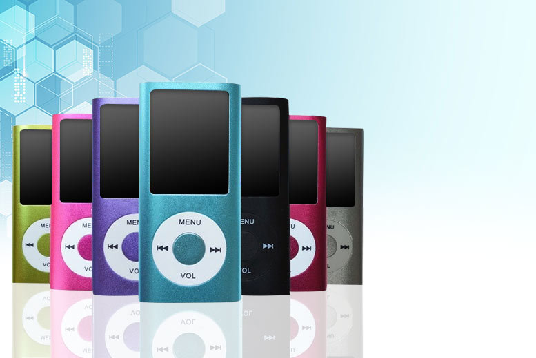 £8 instead of £39.99 for an 8GB MP4 player from Cheeky Box - choose from five colours and save 80%