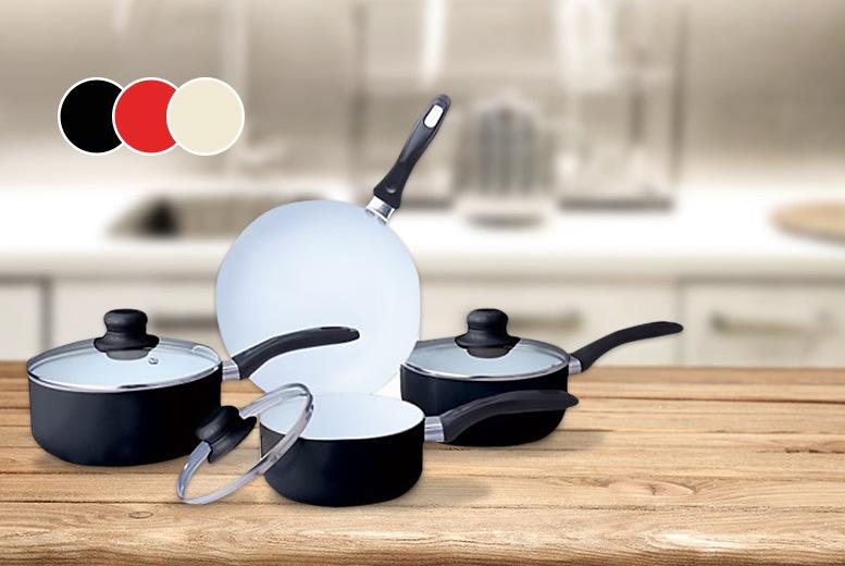 7pc ceramic non-stick pan set
