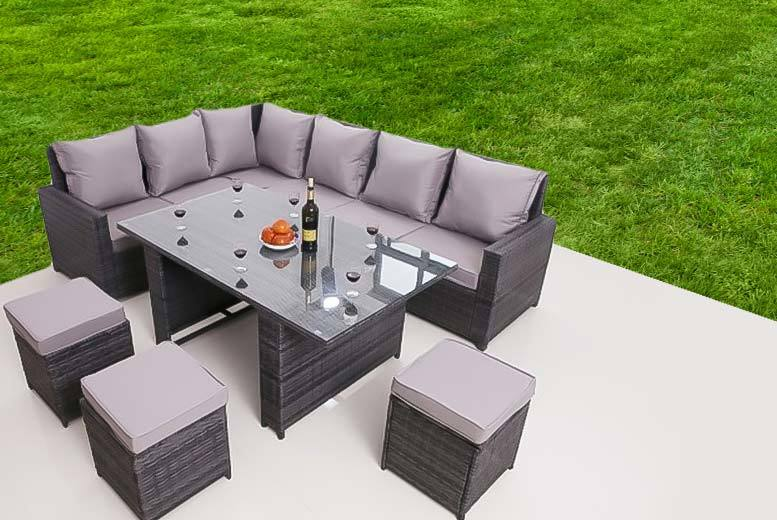 £449 instead of £975 (from Dreams Outside) for a nine-seater rattan garden furniture set - fire up the BBQ an save 54%