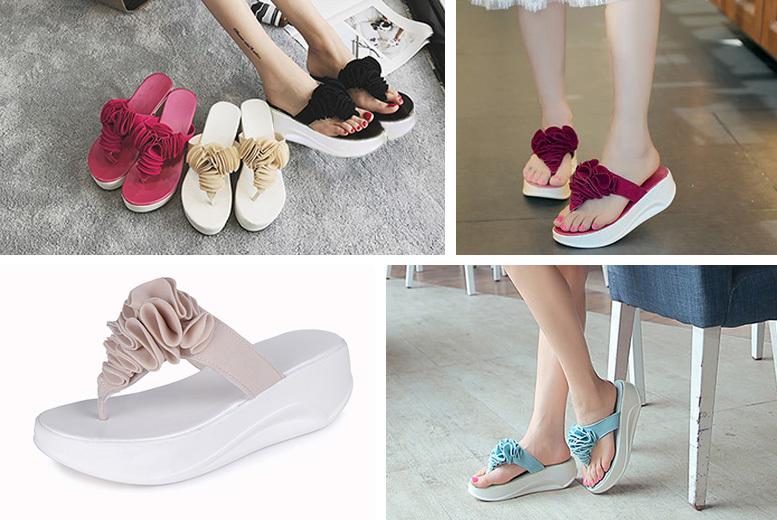 Toning' Flip Flops – 4 Colours & 5 Sizes! for £9.99