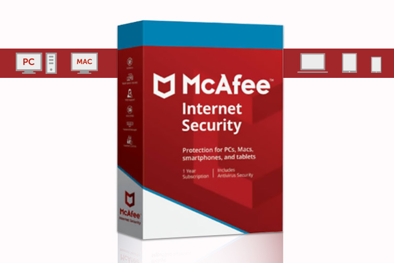 McAfee Internet Security 2018 – 1-Year Subscription! for £12.00