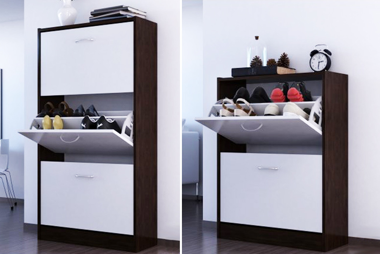 Shoe Storage Cabinet – 2 Colours & 2 Sizes! from £29.00