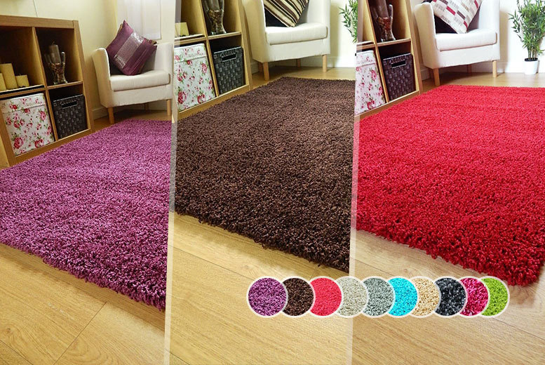 From £10 instead of £28.99 (from Groundlevel.co.uk) for a shaggy rug in one of five sizes - choose from ten colours and save up to 66%