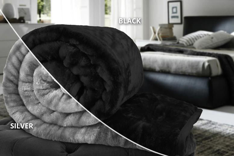 Faux Fur Throw – 10 Colours! from £9.99