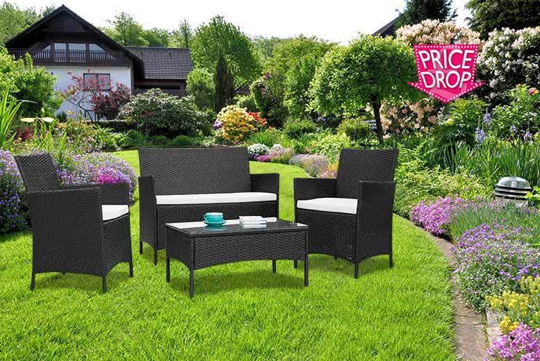 £99 instead of £470 (from Furniture Instore) for a four-piece rattan garden furniture set - save 79%