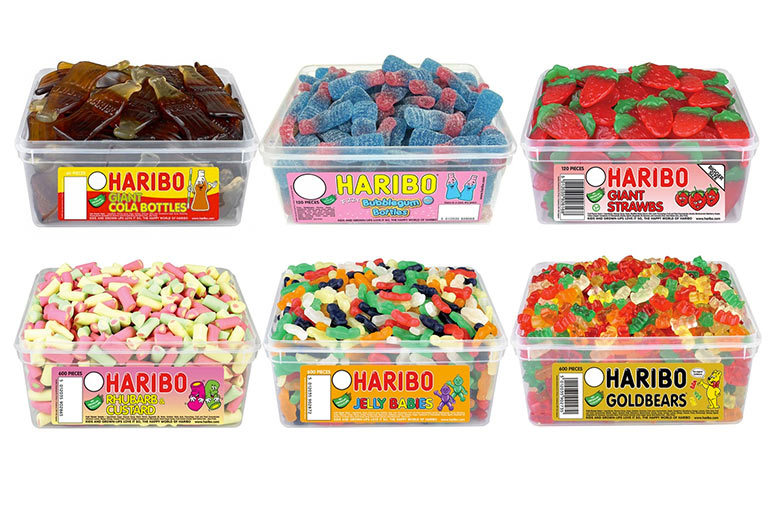 1 or 3 Haribo Gummy Sweet Tubs – 60 to 600 Pieces! from £6.29