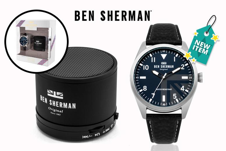 Ben Sherman 'Carnaby' Men's Watch & Bluetooth Speaker Gift Set