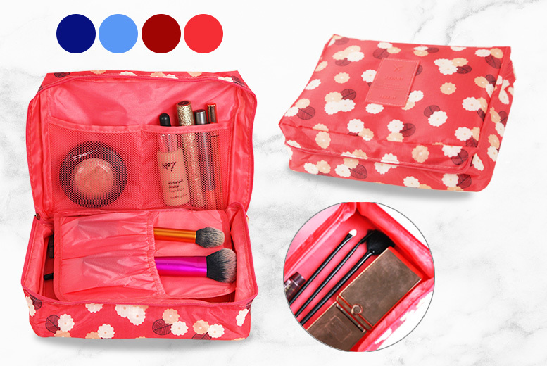 Fold-Out Cosmetic Organiser- 4 Colours! for £4.99