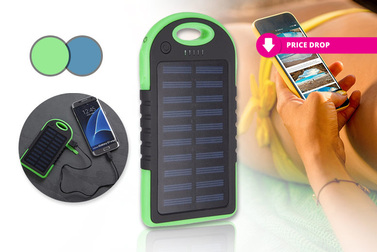 Solar Power Bank – 2 Colours! for £7.99