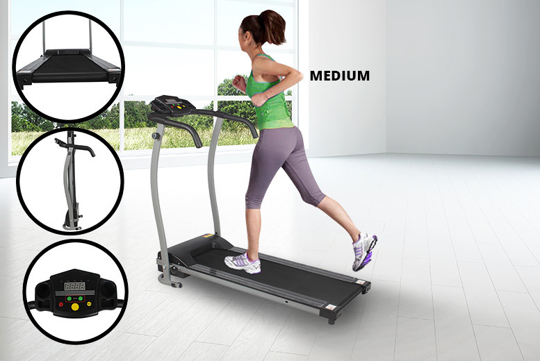 Compact Electric Fold Away Treadmill with LCD Display from £99.00