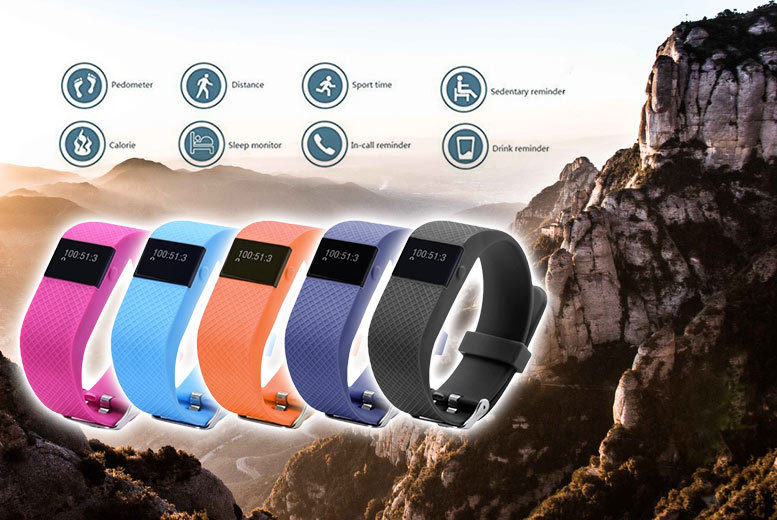 £19.99 (from Pretty Essential) for a next-gen TW64s 8-in-1 Bluetooth sports activity bracelet with heart rate monitor - choose from five colours and save 87%