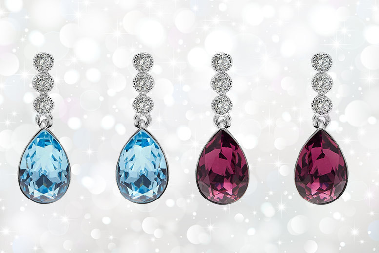 Sofia Earrings Made with Crystals from Swarovski® – 2 Colours! for £12.00