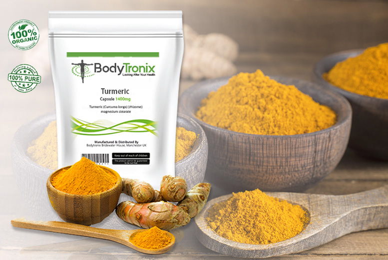 Turmeric Capsules – 4mnth Supply*! for £7.99