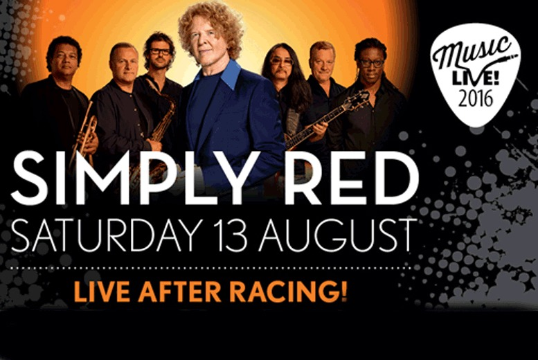 £35 for a Grandstand ticket for Simply Red at Doncaster Racecourse, £45 for a County ticket
