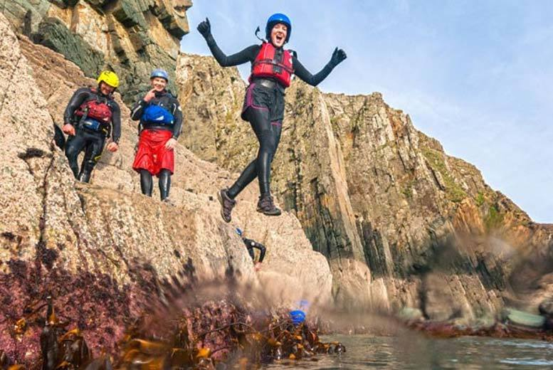 £55 for a coasteering experience along the Pembrokeshire coastline from Buyagift - get wet and wild and try something new!