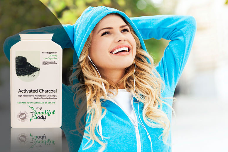 2mth Supply* of Activated Charcoal Detox Capsules