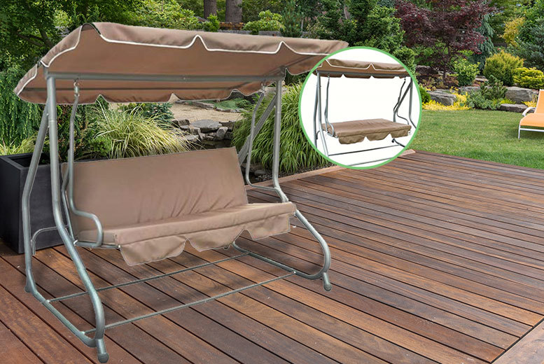 £99 instead of £379.01 (from Electrical Europe) for a two-in-one swing bench – save 74%