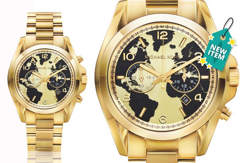 Michael Kors MK6272 Oversized Gold Bradshaw Chronograph Watch